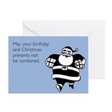 Christmas And Birthday Combined Greeting Card