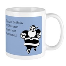 Christmas And Birthday Combined Mug