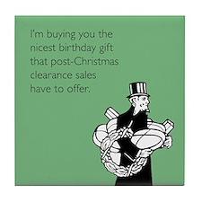 Post Christmas B-Day Gift Tile Coaster