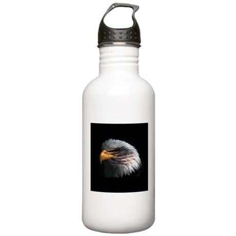 American Flag Eagle Stainless Water Bottle 1.0L