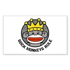 Sock Monkeys Rule Decal