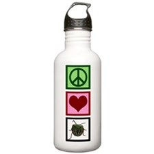 Peace Love Bugs Water Bottle