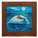 Mermaid Floating Framed Tile
