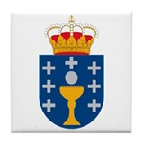 Galicia Coat of Arms Tile Coaster