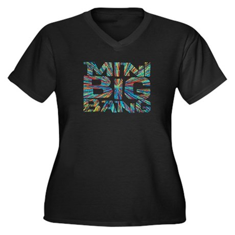 mini big bang Women's Plus Size V-Neck Dark T-Shir