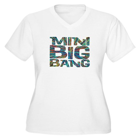 mini big bang Women's Plus Size V-Neck T-Shirt
