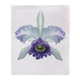 Colorful Orchids Throw Blanket