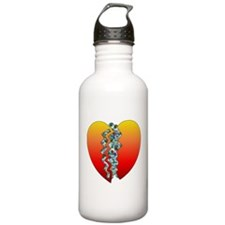 Halloween Heart Eyeballs Water Bottle