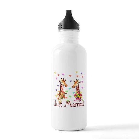 Wedding Giraffes Stainless Water Bottle 1.0L