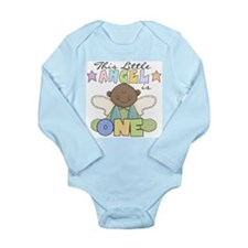African American Boy 1st Birthday Long Sleeve Infa