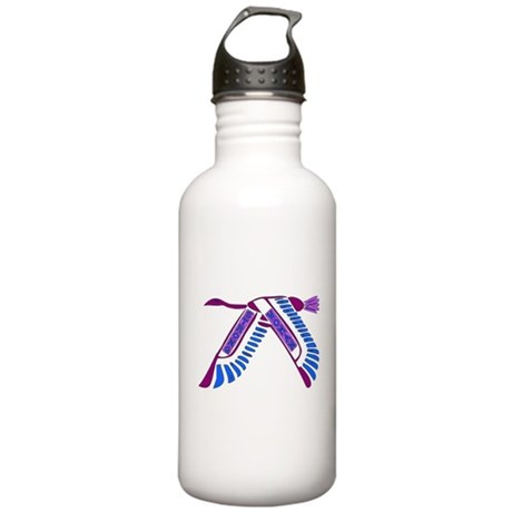 Strong Woman Flying Stainless Water Bottle 1.0L