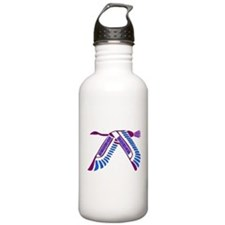 Strong Woman Flying Water Bottle