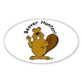 Beaver Hunter Oval Decal
