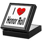 I Love Honor Roll Keepsake Box