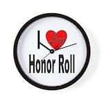 I Love Honor Roll Wall Clock