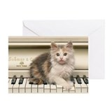 PIANO KITTY Greeting Card