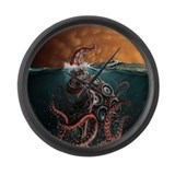 Kraken! Large Wall Clock