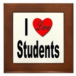 I Love Students Framed Tile