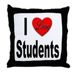 I Love Students Throw Pillow