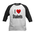 I Love Students Kids Baseball Jersey
