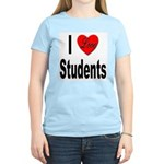 I Love Students (Front) Women's Pink T-Shirt