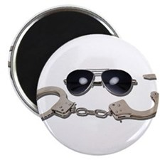 "Aviator Glasses Handcuffs 2.25"" Magnet (100 pack)"