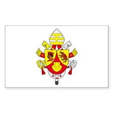 Pope Benedict XVI Rectangle Decal