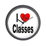I Love Classes Wall Clock