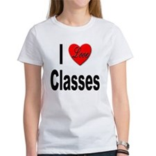 I Love Classes (Front) Tee