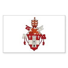 Pope John XXIII Rectangle Decal