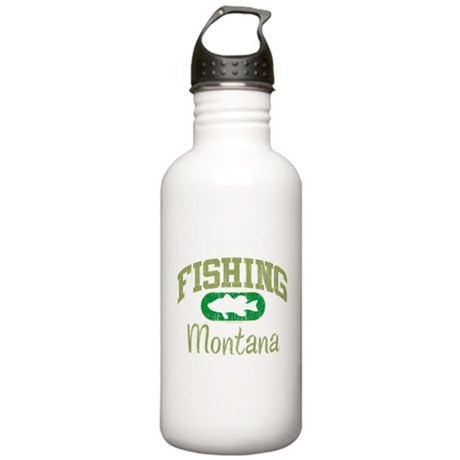 FISHING MONTANA Stainless Water Bottle 1.0L