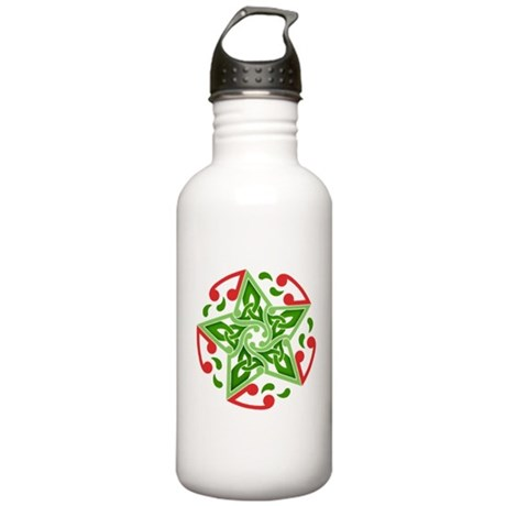 Celtic Christmas Star Stainless Water Bottle 1.0L