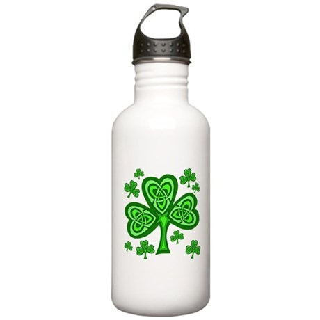 Celtic Shamrocks Stainless Water Bottle 1.0L