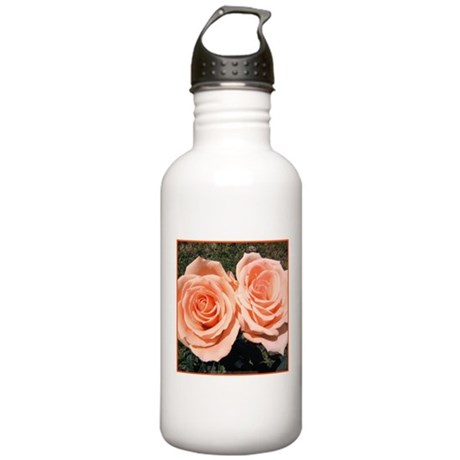 Peach Roses Stainless Water Bottle 1.0L