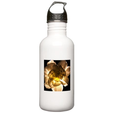White Carnation Stainless Water Bottle 1.0L