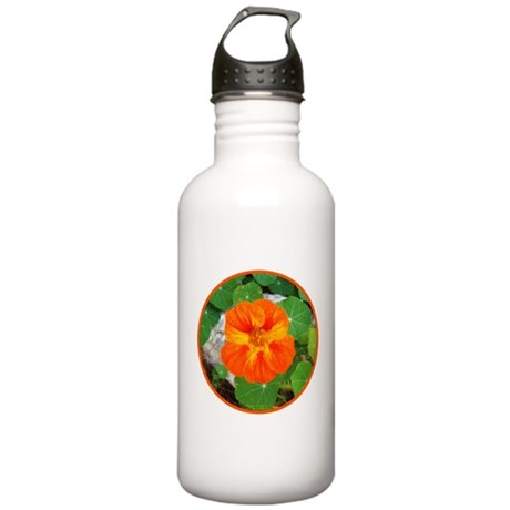 Orange Nasturtium Stainless Water Bottle 1.0L