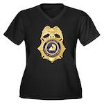GSA Special Agent Women's Plus Size V-Neck Dark T-