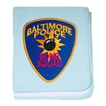 Baltimore Bomb Squad baby blanket