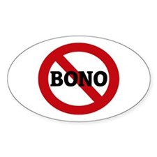 Anti-Bono Oval Decal
