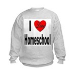 I Love Homeschool Kids Sweatshirt