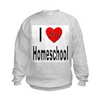 I Love Homeschool (Front) Kids Sweatshirt
