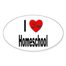 I Love Homeschool Oval Decal