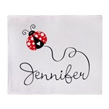 Ladybug Jennifer Throw Blanket