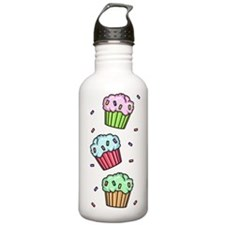 Three Cupcakes Water Bottle