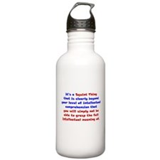 Intellectual Comprehension Water Bottle