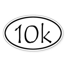 10k Run Oval Decal