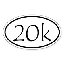 20k Run Oval Decal