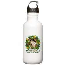 Merry Christmas Husky Water Bottle