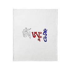 Om Ah Hung mantra Throw Blanket