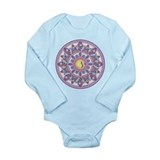 OM AUM Long Sleeve Infant Bodysuit